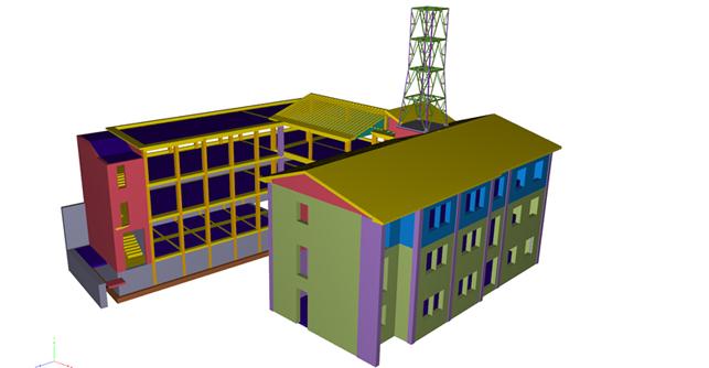 Vista 3D modello BIM